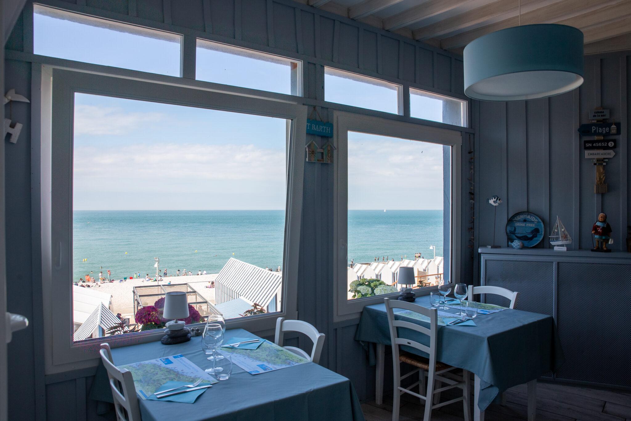 Restaurant la Sirène vue sur la mer